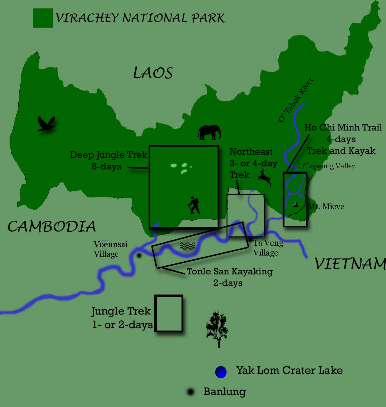 virachey national park map